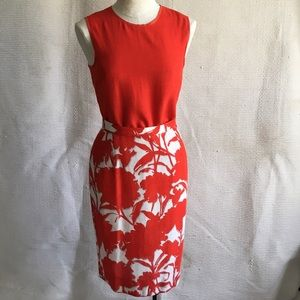 Prada Vintage 90s 2piece dress set top print skirt